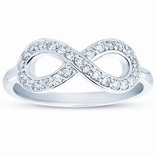 10k White Gold 1/4ct TDW Diamond Infinity Ring and Gift Box (H-I, I1-I2)