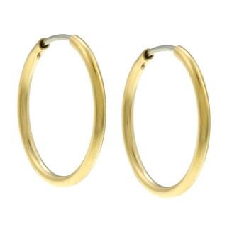 City by City City Style Goldtone Polished Tube Hoop Earrings