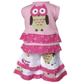 AnnLoren Owl and Polka Dot 2-piece Outfit for 18-inch Dolls