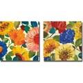 Kim Parker 'Passion Flowers I and II' 2-piece Canvas Art Set