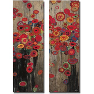 Don Li-Leger 'Garden Parade I and II' 2-piece Canvas Set