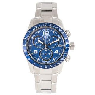 Tissot Men's 'V8' Blue Dial Stainless Steel Chronograph Watch