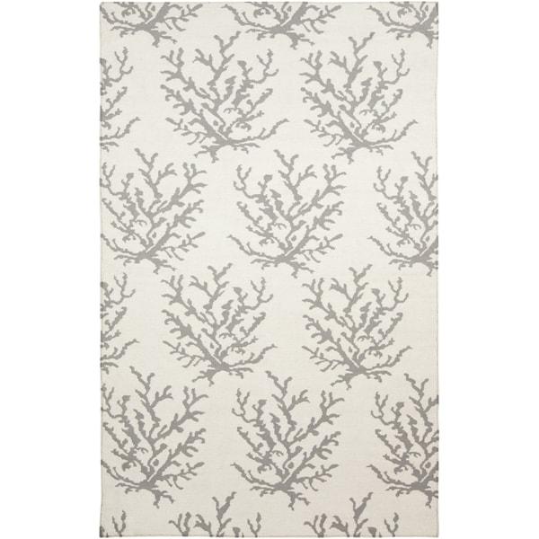 Handwoven Gremlin White Wool Rug (2' x 3')