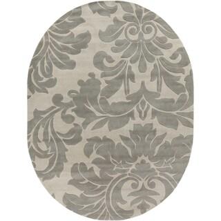 Hand-tufted Bay Leaf Modena Wool Rug (6' x 9' Oval)