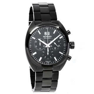 Movado Men's Datron Chronograph Black PVD Watch