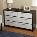 Two-Tone Six Drawer Chest