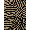 Meticulously Woven Black/White Zebra Aquila Animal Print Rug (2' x 3')