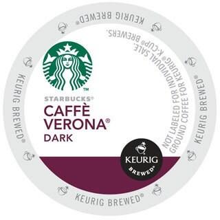 Starbucks Cafe Verona Coffee K-Cups for Keurig Brewers