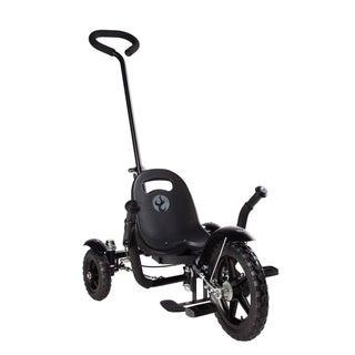 Mobo Tot Toddler's 2-in-1 Black Ergonomic 3-wheeled Cruiser