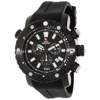 Swiss Precimax Men's Steel Master Marine Deep Dive Pro Watch
