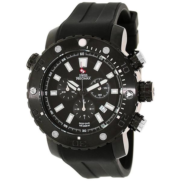 Swiss Precimax Men's Steel Master Marine Deep Dive Pro Watch