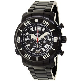 Swiss Precimax Men's Black Steel Sentinel Deep Dive Pro Watch