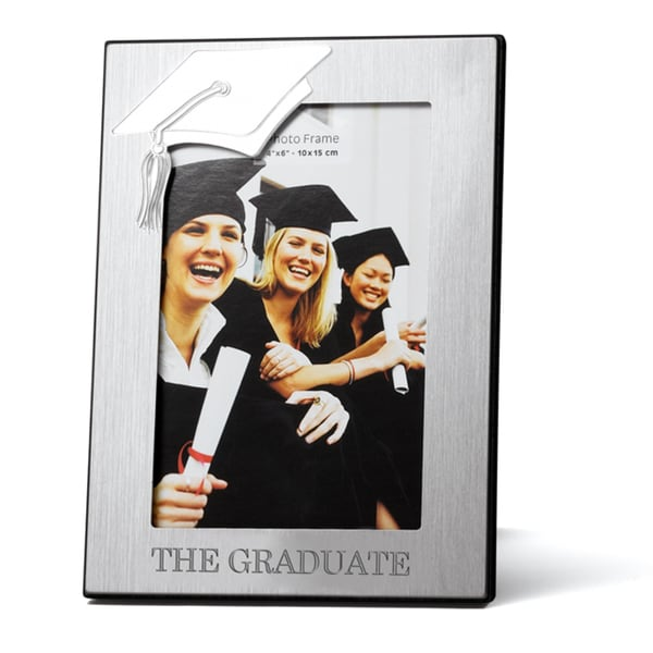 "4x6"" Engraved Graduation Cap Picture Frame"