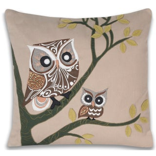 Adley Owl 16 x 16-inch Decorative Pillow