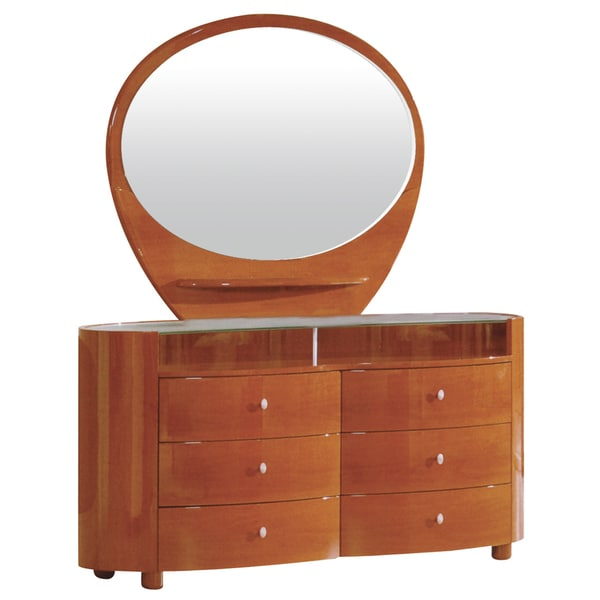 Emily Bedroom Collection Evelyn 6-drawer Dresser with Oval Mirror