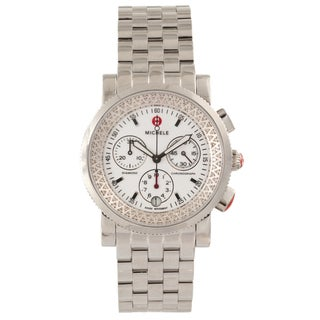 Michele Women's Steel 'Sport Sail' Diamond Chronograph Watch