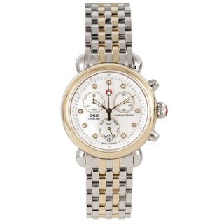 Michele Women's Two-tone Steel 'CSX' Chronograph Watch