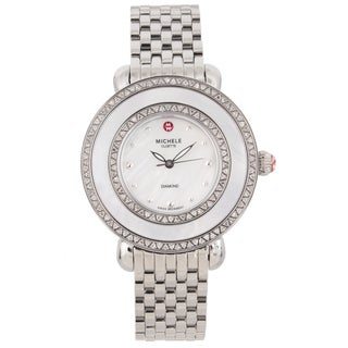 Michele Women's Stainless Steel 'Cloette' Diamond Watch