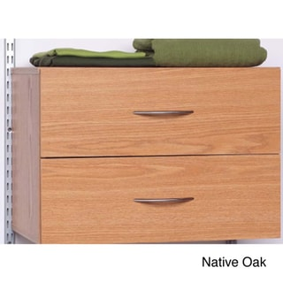 Talon 2-drawer White / Native Oak Organizer