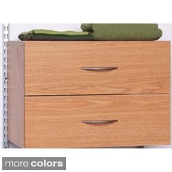 Talon 2-drawer White / Native Oak Organizer
