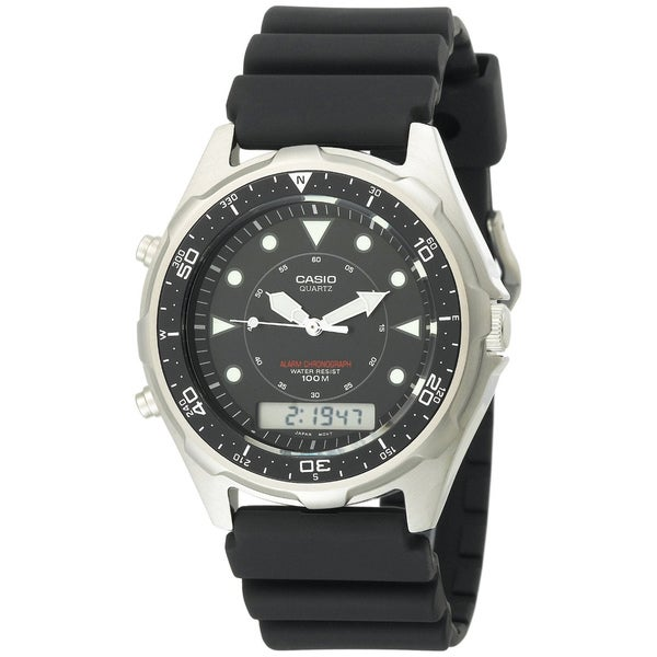 Casio Men's Stainless Steel Analog-digital Watch