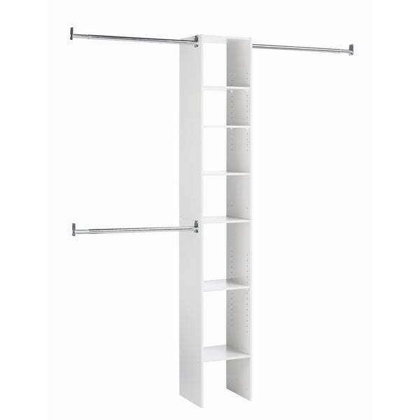 akadaHOME 7-shelf White Closet Tower