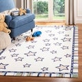 Handmade Children's Stars Ivory New Zealand Wool Rug (5' x 8')