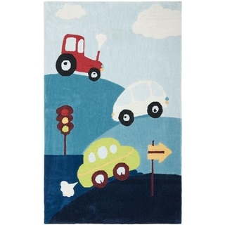 Safavieh Handmade Children's Cars & Trucks New Zealand Wool Rug