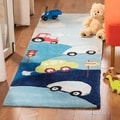 Handmade Children's Cars & Trucks New Zealand Wool Rug
