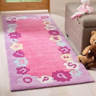 Safavieh Handmade Children's Alphabets Pink Rug