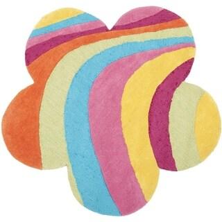 Safavieh Handmade Children's Rainbow Leaf New Zealand Wool Rug