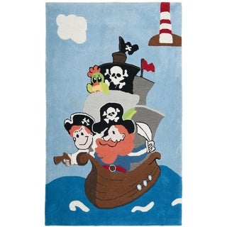 Handmade Children's Pirates New Zealand Wool Rug