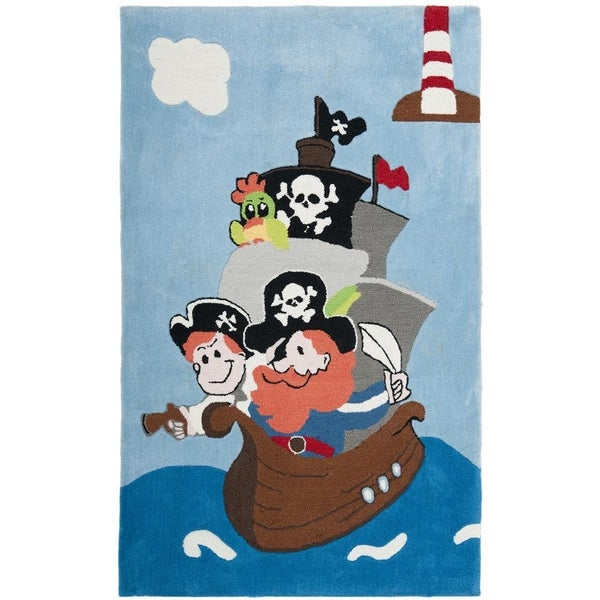 Safavieh Handmade Children's Pirates New Zealand Wool Rug