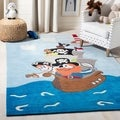 Handmade Children&#39;s Pirates New Zealand Wool Rug
