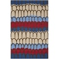 Handmade Children's Doodle Blue/ Beige New Zealand Wool Rug