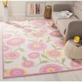 Handmade Children's Spring Ivory New Zealand Wool Rug
