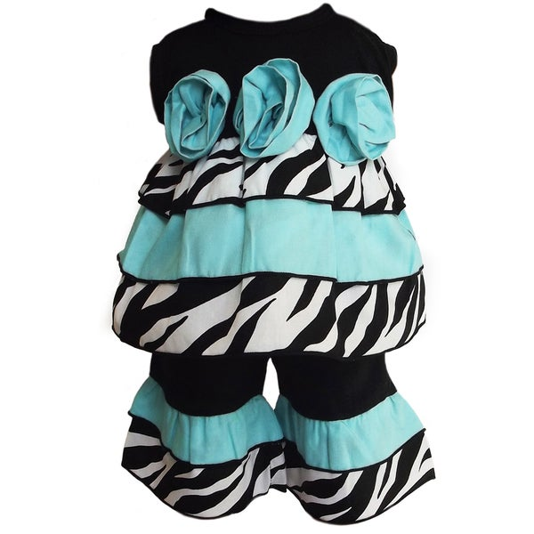 AnnLoren 2 piece Zebra Rumba Rose Outfit Fits American Girl Doll