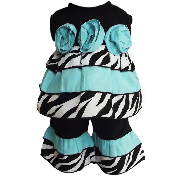 AnnLoren 2 piece Zebra Rumba Rose Outfit Fits American Girl Doll