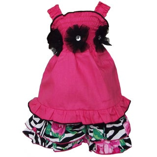 AnnLoren 2 piece Zebra Rose Outfit Fits American Girl Doll