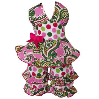 AnnLoren 2 piece Paisley & Polka Dot Halter Outfit Fits American Girl Doll