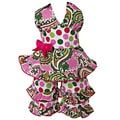 AnnLoren 2 piece Paisley &amp; Polka Dot Halter Outfit Fits American Girl Doll