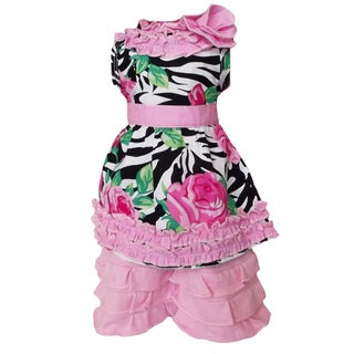 AnnLoren 2 piece Sweet Zebra Rose Outfit fits American Girl Doll
