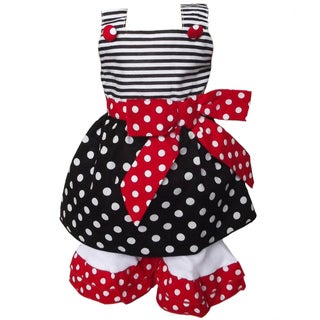 AnnLoren 2 piece Polka Dot & Stripes Outfit fits American Girl Doll