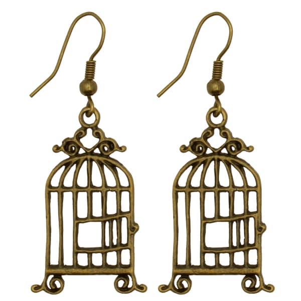 Kate Marie Vintage Birdcage Earrings