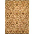 Hand-tufted Vittoria Golden Tan Semi-Worsted New Zealand Wool Rug (3'3 x 5'3)