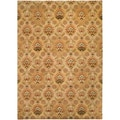Hand-tufted Vittoria Golden Gold Semi-Worsted New Zealand Wool Rug (8' x 11')