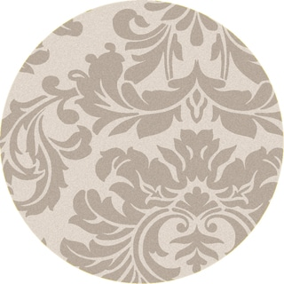 Hand-tufted Bay Leaf Modena Wool Rug (6' Round)