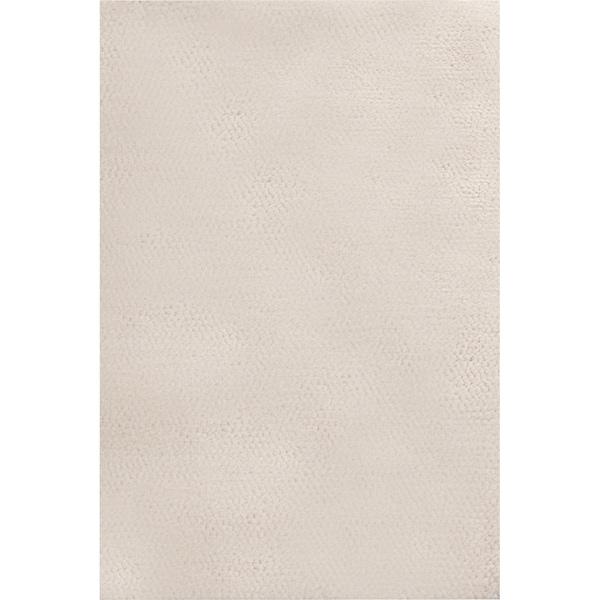 Handwoven Civic Parchment Wool Plush Shag Rug (3'6 x 5'6)