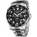 Akribos XXIV Men's Stainless Steel Diver's Classic Chronograph Watch