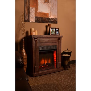 Rustic Electric Fireplace